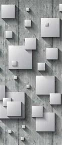 Vliesové fototapety, rozmer 91 x 211 cm, 3D štvorce, IMPOL TRADE 3030 VET