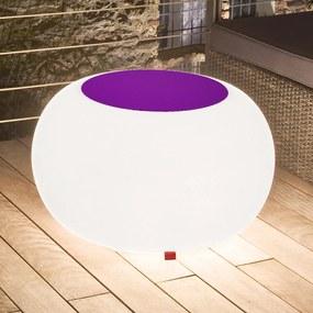 Bubble Outdoor stôl, E27 žiarovka, plsť fialová