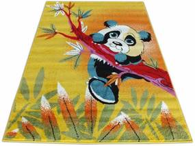 Detský koberec Panda žltý, Velikosti 240x330cm