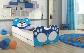 Detská posteľ 160x80 cm Macko - Včetně zásuvky