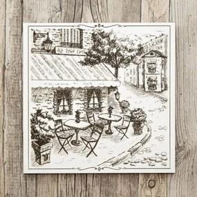 Drevený obraz do kaviarne - Old Town Cafe