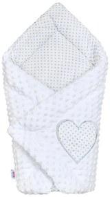 NEW BABY Nezaradené Luxusná Zavinovačka z Minky New Baby biela 73x73 cm Biela |