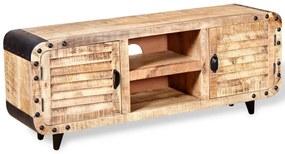 VidaXL TV stolík zo surového mangového dreva, 120x30x50 cm