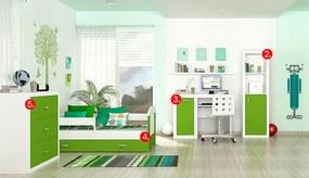 GL Jakub COLOR MINI detská izba - zelená Variant veľkosť postele: 180x80 (+30 Eur)