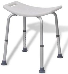 Biela hliníková stolička do sprchy