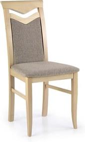 DREVONA09 Jedálenská stolička drevená dub sonoma hnedo-béžová CITRONE Inari 23