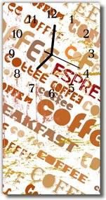 Nástenné hodiny vertikálne  Káva béžová káva