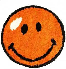 Kusový koberec Shaggy vlas 30mm Smile oranžový, Velikosti 100x100cm