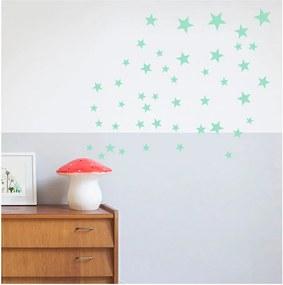 Nástenné samolepky v mentolovej farbe Art For Kids Stars