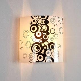 Čiernobiele sklenené nástenné svietidlo Fresh