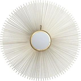Nástenné zrkadlo Kare Design Sunbeam, ø 90 cm