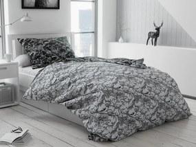 Bavlnené obliečky Zuzana čiernobiela Rozmer obliečok: 70 x 90 cm, 140 x 200 cm