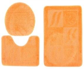 Kúpeľňové predložky 1107 oranžové 3Ks, Velikosti 50x80cm