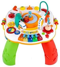 NEW BABY Nezaradené Hovoriaci a hrajúci interaktívný stolček New Baby s jazdiacim vláčikom CZ/SK Podľa obrázku  