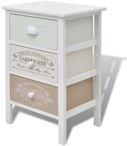 Úložná skrinka vo francúzskom bedbalom štýle 3 zásuvky, drevo