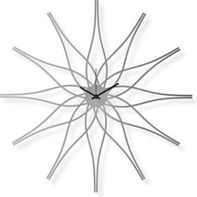 Veľké nástenné hodiny nerezové, 62x62 cm: Kvetina III | atelierDSGN