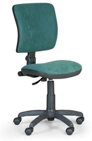Kancelárska stolička MILANO II bez podpierok rúk, zelená