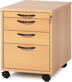 Kancelársky kontajner Adeptus, 4 zásuvky, bukový laminát