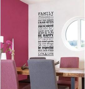 Samolepka Eurographics Family Rules