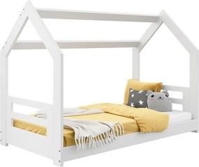 AMI nábytok Detská posteľ DOMČEK D2B 80x160cm masív biela