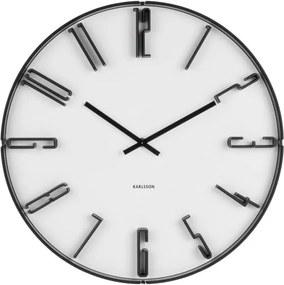 Biele nástenné hodiny Karlsson Sentient, Ø 40 cm