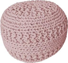 KUDOS Textiles Pvt. Ltd. MEGA AKCE: Sedací vak TEA POUF 6 růžový - 40x40x35 cm