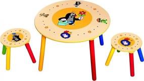 Bino Krtko Detský stolík a 2 sedadlá