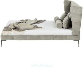 NEO SAMT - Elegantna čalúnená šedá posteľ 140cm
