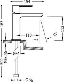 TRES - Jednopáková umyvadlová baterie (20010301AMD)