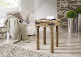 Bighome - CASTLE Príručný stolík 40x40 cm, palisander