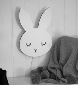 Nástenná lampa Spiaci králik - biely