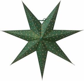 watt & VEKE Závesná svietiaca hviezda Isadora Green 60 cm