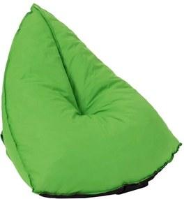 Zelený sedací vak Triangle - 94 * 100 * 81 cm