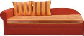 KONDELA Aga D L rozkladacia pohovka s úložným priestorom oranžová