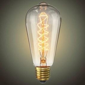 EDISON retro žiarovka ST64 40W E27