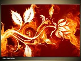 Obraz na plátne Ohnivá kvetina, Obdĺžnik 90x60cm 60,8 €