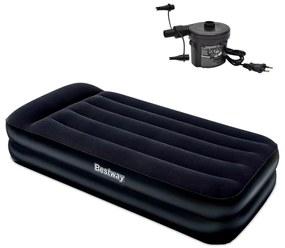 Bestway nafukovacia semišová posteľ s externou pumpou 191 x 97 x 46 cm