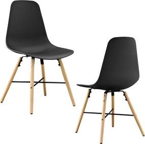 en.casa ® Dizajnové stoličky 2-dielna sada - 85 0f4d44b63a