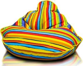 Detský sedací vak Lip - oranžová NC9