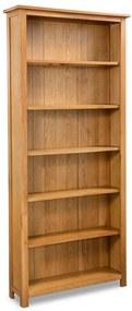 Knižnica so 6 policami, dubové drevo 80x22,5x180 cm