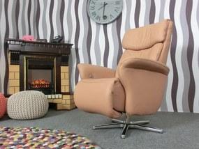 (2124) HIMOLLA EASY SWING luxusné polohovacie kožené kreslo