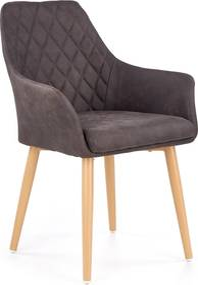 HALMAR K287 jedálenská stolička tmavohnedá