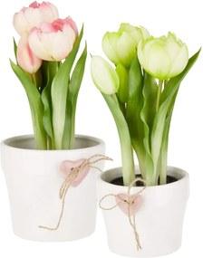 Kvetináč Gabrielle biela 8,5 cm