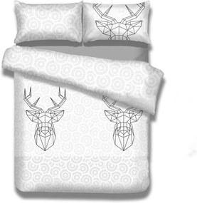 Flanelové obliečky na dvojlôžko AmeliaHome My Deer Friend, 160 × 200 cm