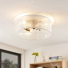 Lindby Tarik stropná lampa, biela, 49 cm