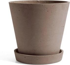 HAY Kvetináč s miskou Flowerpot XL, terracotta