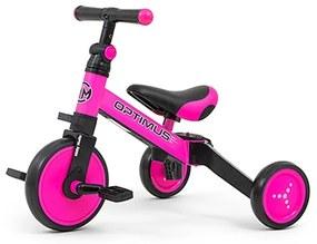MILLY MALLY Nezaradené Detská trojkolka 3v1 Milly Mally Optimus pink Ružová |