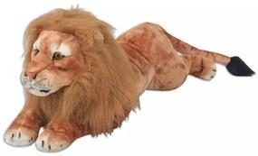 Hračka plyšový lev, hnedý, XXL