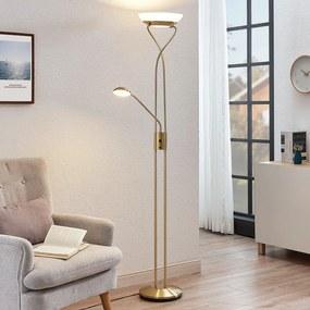Stropné LED svietidlo Luciana lampa čítanie mosadz