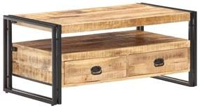 vidaXL Konferenčný stolík 100x55x45 cm surové mangovníkové drevo